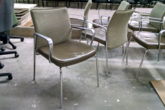Keilhauer guest /side chair - leather with chrome 18 available
