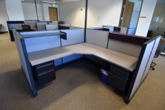 Herman Miller ao2 6x6 with two peds - 34 available