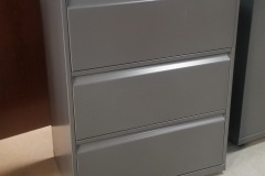 Knoll 3-drawer lateral file cabinets and matching bookcases - 50 available