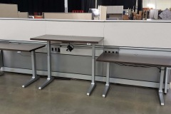 Knoll Benching Height Adjustable with Technical Panel Wall - 60 available